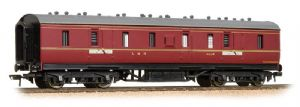 Bachmann 34-327E LMS 50ft Parcels Van, Crimson Livery [NOT YET RELEASED]
